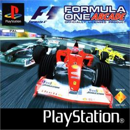 Box cover for Formula One Arcade on the Sony Playstation.