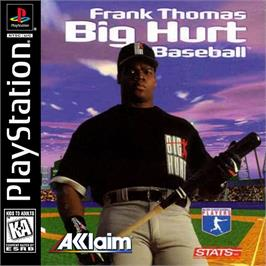 Box cover for Frank Thomas Big Hurt Baseball on the Sony Playstation.