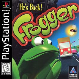 Box cover for Frogger on the Sony Playstation.