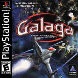 Box cover for Galaga: Destination Earth on the Sony Playstation.
