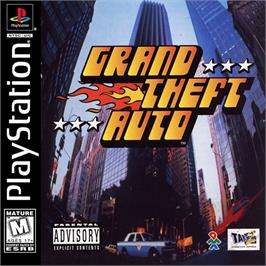 Box cover for Grand Theft Auto on the Sony Playstation.