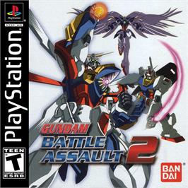 Box cover for Gundam Battle Assault 2 on the Sony Playstation.