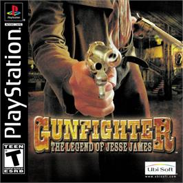 Box cover for Gunfighter: The Legend of Jesse James on the Sony Playstation.