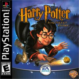 Box cover for Harry Potter and the Sorcerer's Stone on the Sony Playstation.