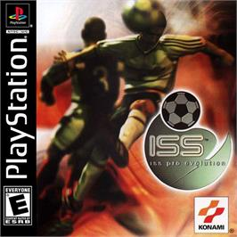 Box cover for ISS Pro Evolution on the Sony Playstation.