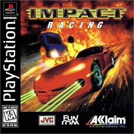 Box cover for Impact Racing on the Sony Playstation.