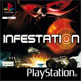 Box cover for Infestation on the Sony Playstation.