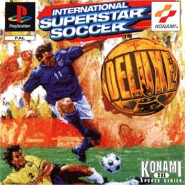 Box cover for International Superstar Soccer Deluxe on the Sony Playstation.