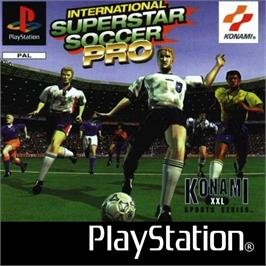 Box cover for International Superstar Soccer Pro on the Sony Playstation.