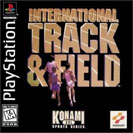 Box cover for International Track & Field on the Sony Playstation.