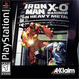 Box cover for Iron Man / X-O Manowar in Heavy Metal on the Sony Playstation.