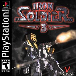 Box cover for Iron Soldier 3 on the Sony Playstation.