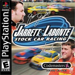 Box cover for Jarrett and Labonte Stock Car Racing on the Sony Playstation.