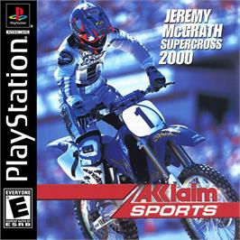 Box cover for Jeremy McGrath Supercross 2000 on the Sony Playstation.
