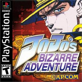 Box cover for JoJo's Bizarre Adventure on the Sony Playstation.