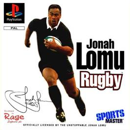 Box cover for Jonah Lomu Rugby / Brian Lara Cricket on the Sony Playstation.