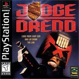 Box cover for Judge Dredd on the Sony Playstation.
