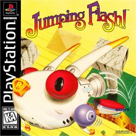 Box cover for Jumping Flash! on the Sony Playstation.