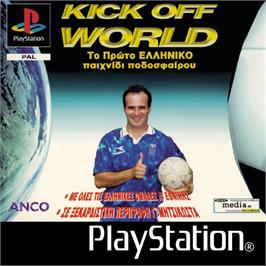 Box cover for Kick Off World on the Sony Playstation.