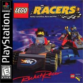 Box cover for LEGO Racers on the Sony Playstation.