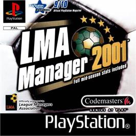 Box cover for LMA Manager 2001 on the Sony Playstation.