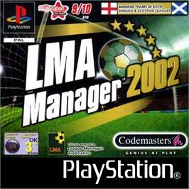 Box cover for LMA Manager 2002 on the Sony Playstation.