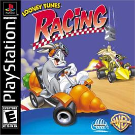 Box cover for Looney Tunes Racing on the Sony Playstation.