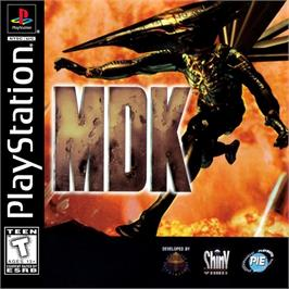 Box cover for MDK on the Sony Playstation.