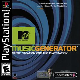 Box cover for MTV: Music Generator on the Sony Playstation.