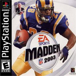 Box cover for Madden NFL 2003 on the Sony Playstation.