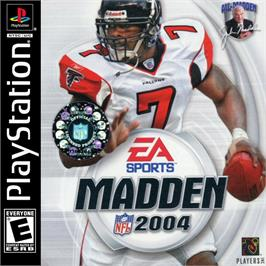 Box cover for Madden NFL 2004 on the Sony Playstation.