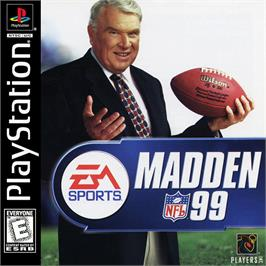 Box cover for Madden NFL 99 on the Sony Playstation.