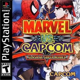 Box cover for Marvel vs. Capcom: Clash of Super Heroes on the Sony Playstation.