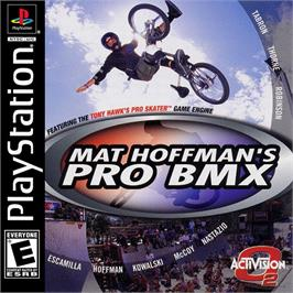 Box cover for Mat Hoffman's Pro BMX on the Sony Playstation.