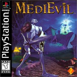 Box cover for MediEvil on the Sony Playstation.