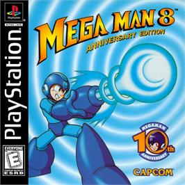 Box cover for Mega Man 8: Anniversary Edition on the Sony Playstation.