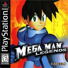 Box cover for Mega Man Legends on the Sony Playstation.