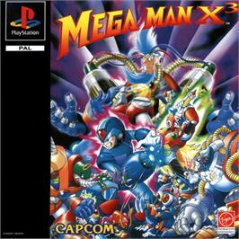 Box cover for Mega Man X3 on the Sony Playstation.