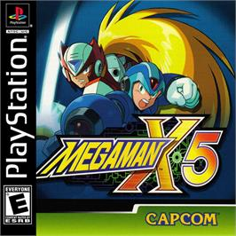Box cover for Mega Man X5 on the Sony Playstation.