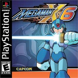Box cover for Mega Man X6 on the Sony Playstation.