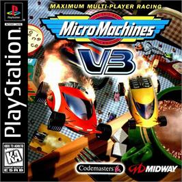 Box cover for Micro Machines V3 on the Sony Playstation.
