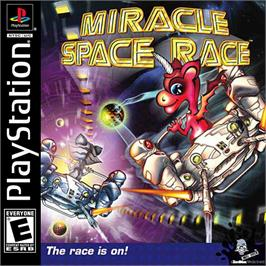 Box cover for Miracle Space Race on the Sony Playstation.