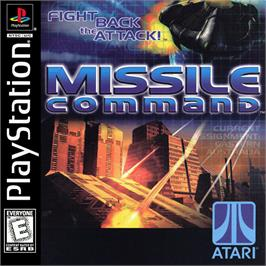 Box cover for Missile Command on the Sony Playstation.
