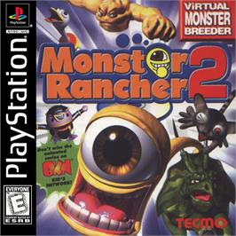 Box cover for Monster Rancher 2 on the Sony Playstation.