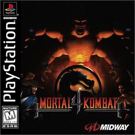 Box cover for Mortal Kombat 4 on the Sony Playstation.