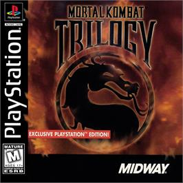 Box cover for Mortal Kombat Trilogy on the Sony Playstation.