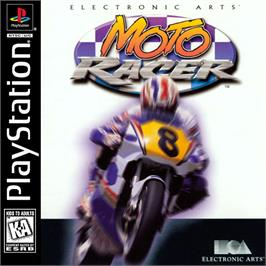 Box cover for Moto Racer on the Sony Playstation.