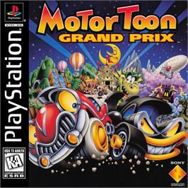 Box cover for Motor Toon Grand Prix on the Sony Playstation.
