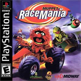 Box cover for Muppet RaceMania on the Sony Playstation.