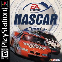 Box cover for NASCAR 2001 on the Sony Playstation.